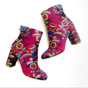 Joie Saleema Boho Floral Brocade Heeled Boot